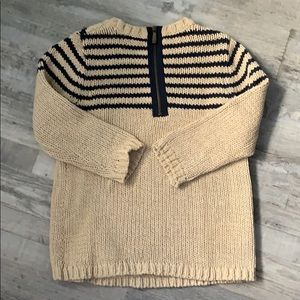 Ann Taylor LOFT beige and navy sweater .